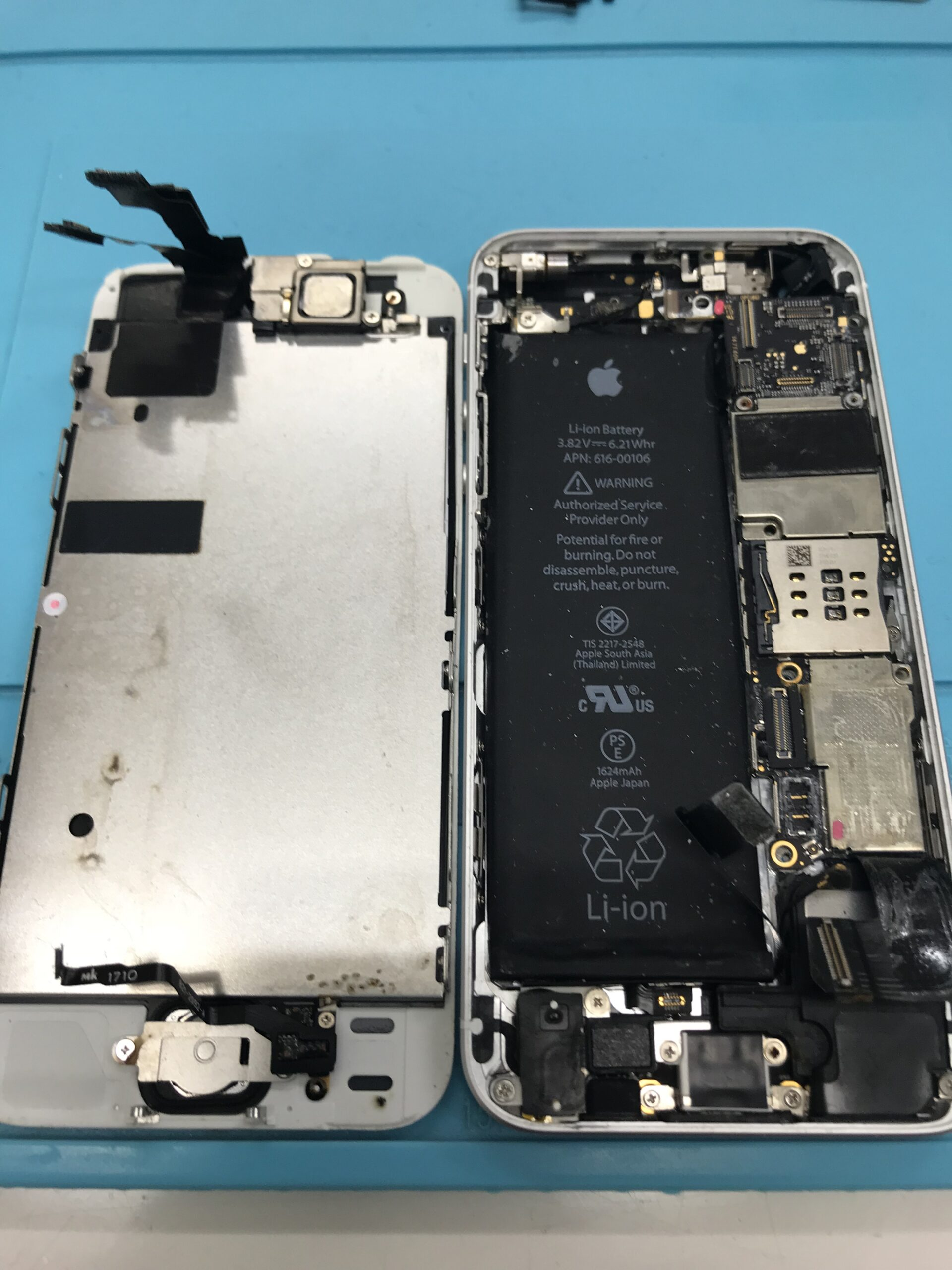 iphoneSE 水没修理 データ復旧