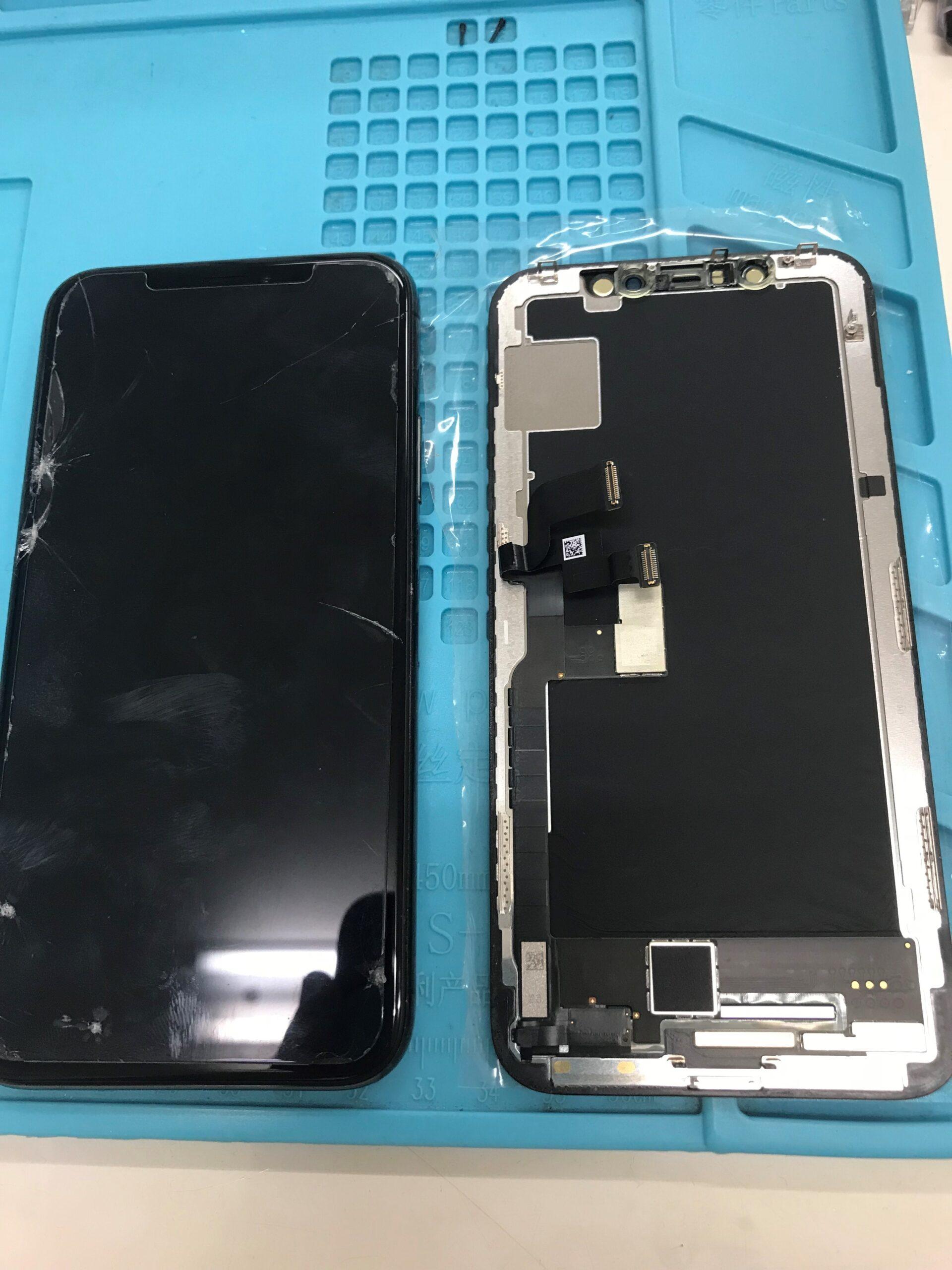 iphoneXガラス交換