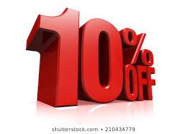 10%引きクーポン
