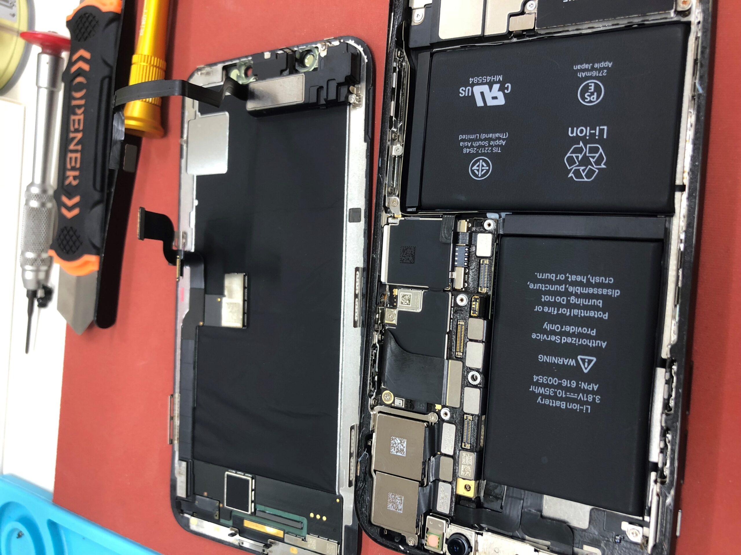 iphoneX水没修理風景