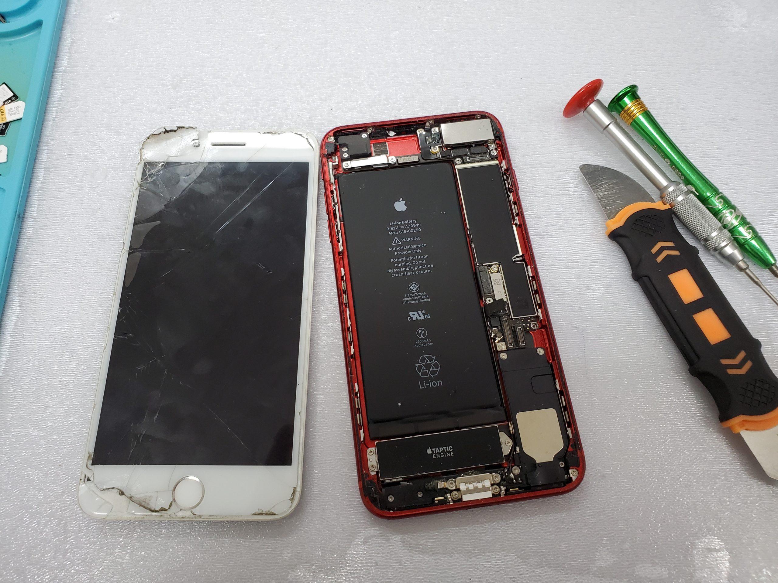 iphone丁寧に作業