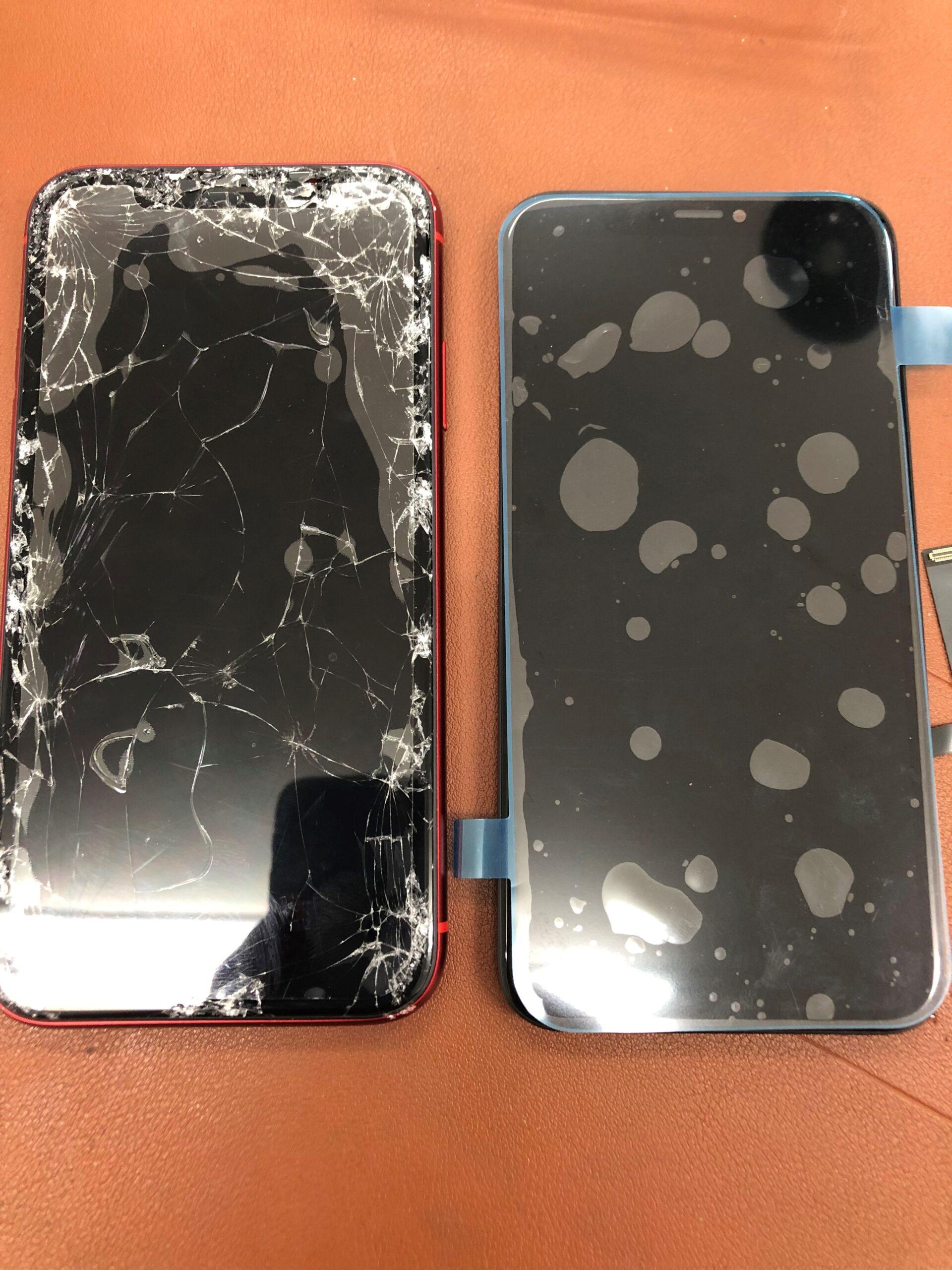 iphoneXSガラス割れ2019年7月