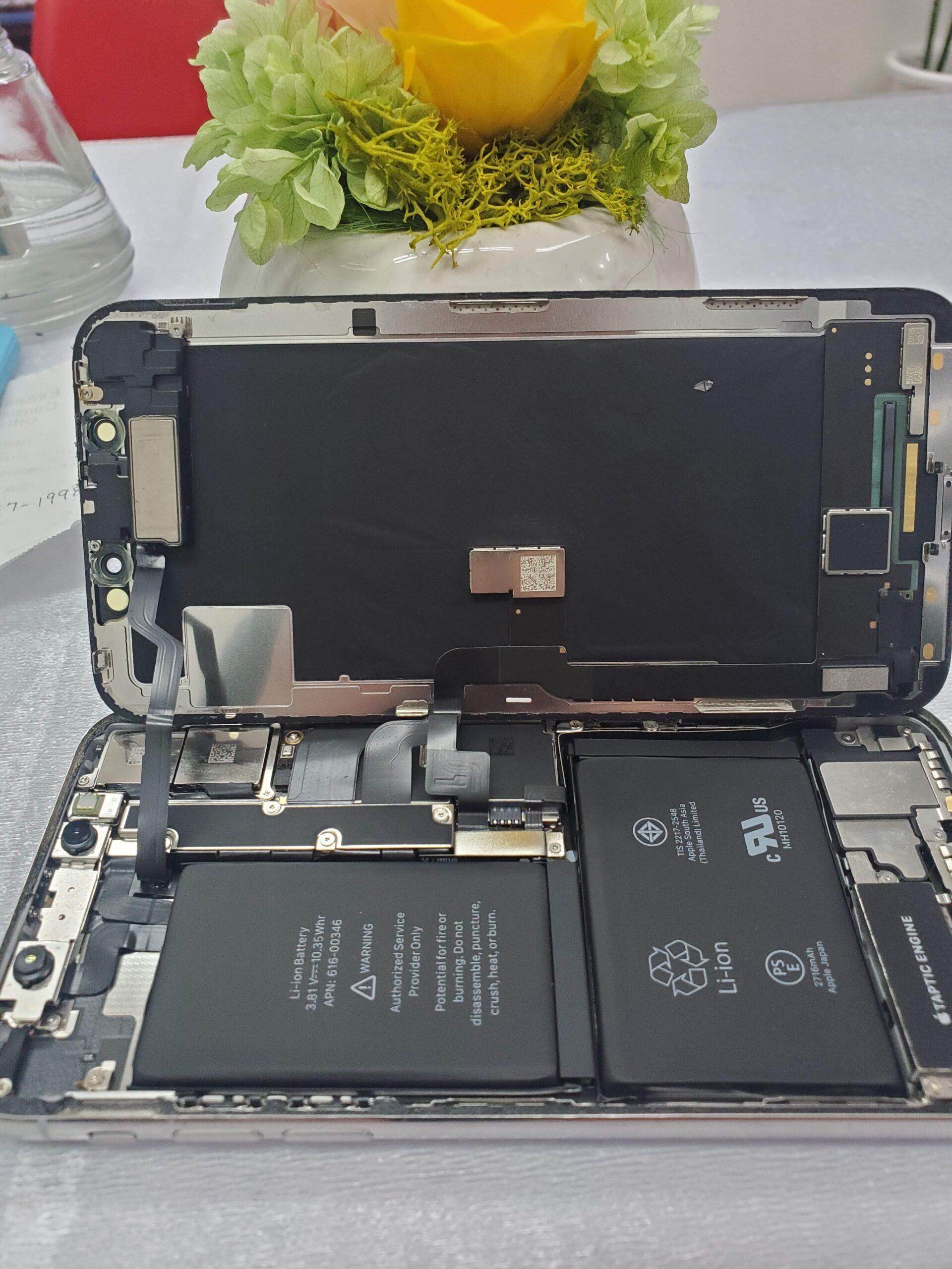 iphoneX緑の画面