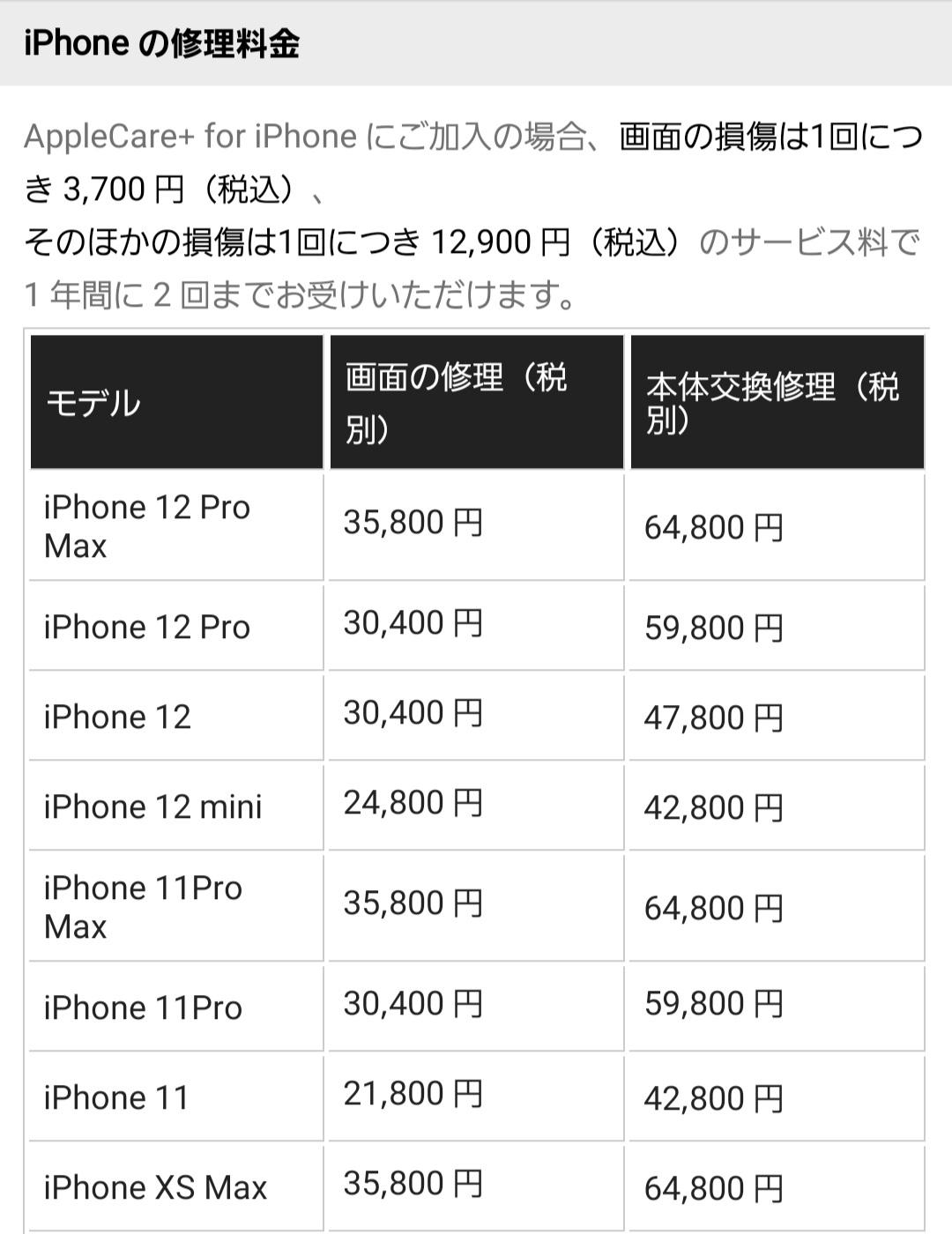 apple修理料金